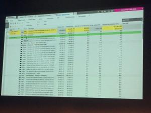 Planisware v6.1 (comparer 2 tableaux)